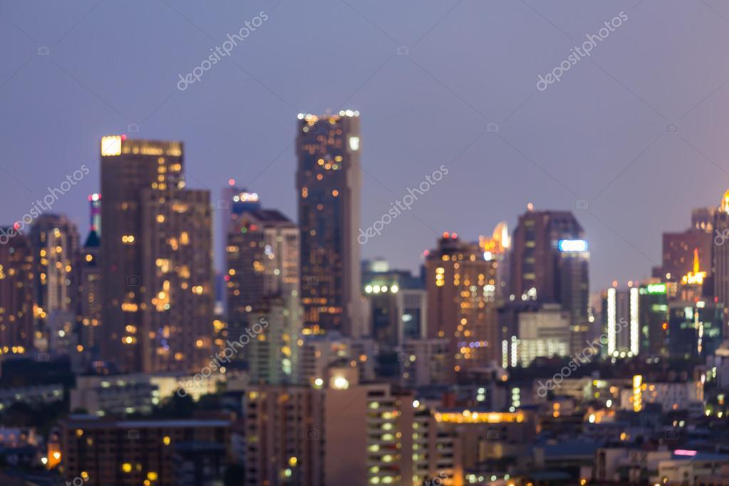 Bulanık ışıklar Gece Görünümü şehir şehir Arka Plan Stok Foto