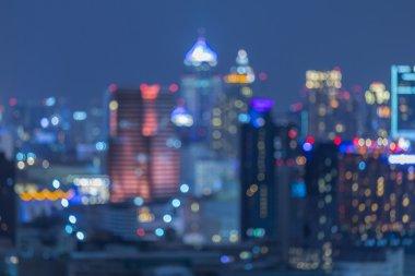 Bangkok city night light, Bokeh background