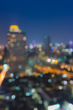 Out of focus, modern city bokeh lights night view