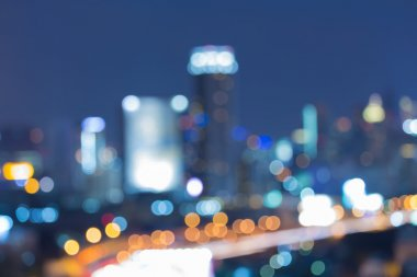 Abstract blurred bokeh city night lights background