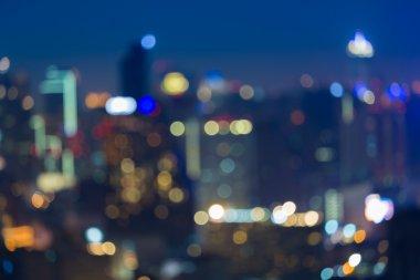 Abstract blurred bokeh big city lights at night