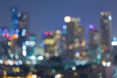 Abstract blurred city multiple colour lights bokeh