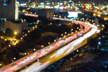 Blurred bokeh lights traffice highway