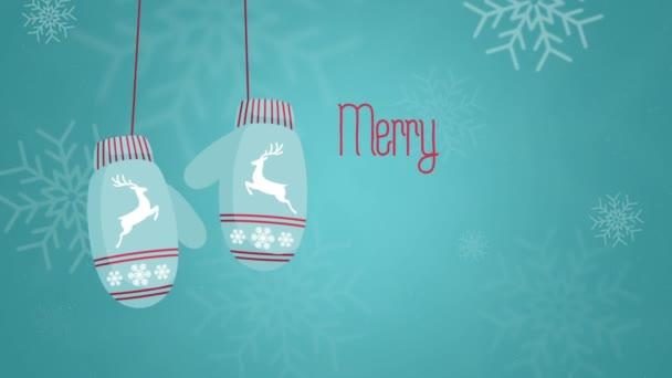 Veselé cristmas a šťastný nový rok 2015 animace