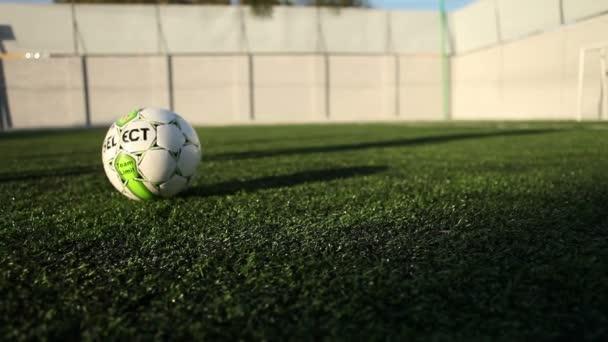 Sportovní fotbalový míč kop