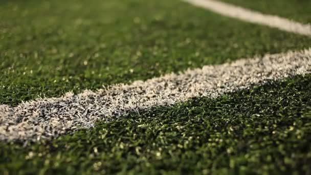 Fußballplatz mit Markierungen