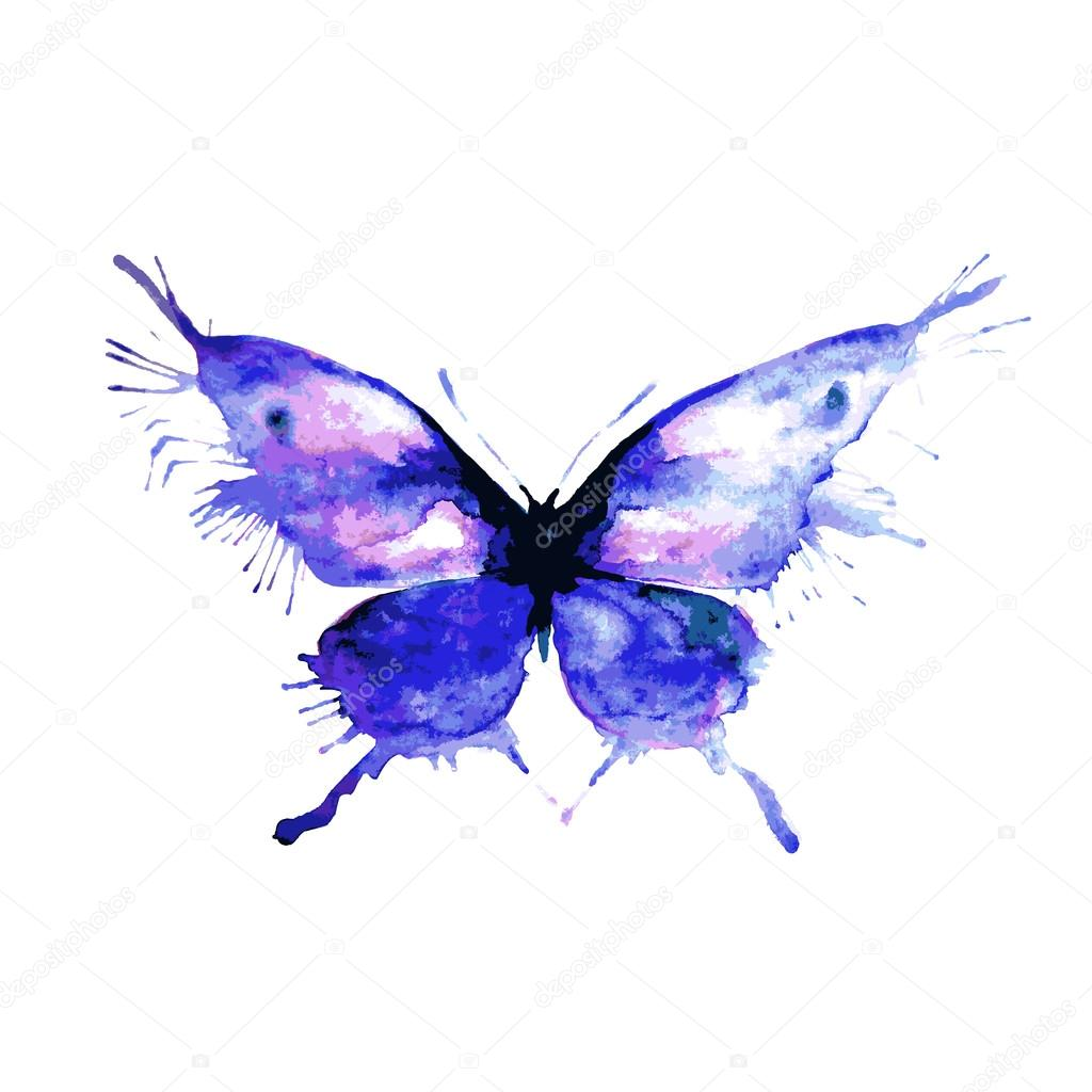 Pintura Mariposa Pintar Acuarela Tarjeta Con Mariposa Vector De