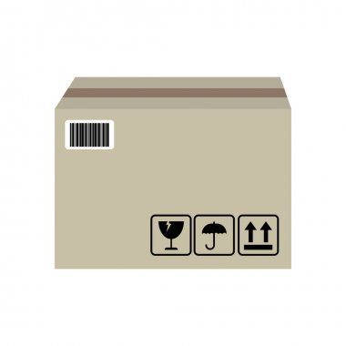Carton box icon isolated vector graphic illustration icon