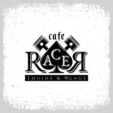 Cafe racer label