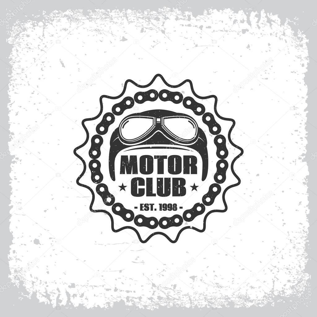 Motor Club Label Stock Vector Jazzzzzvector 100756624