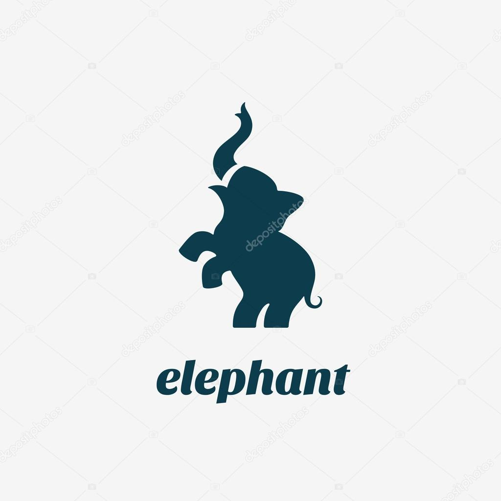 fcf5719d4 Elephant logo template — Stock Vector © jazzzzzvector  105993762