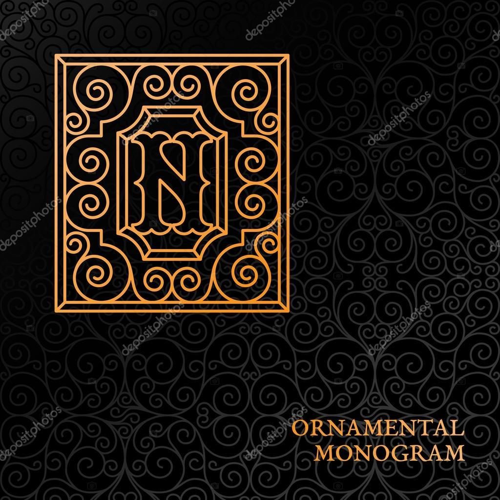 Dekorative Monogramm-Vorlage — Stockvektor © jazzzzzvector #110091992