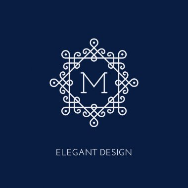 Monogram design template
