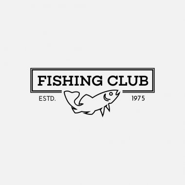 Fish logo in outline style