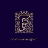 Fotografie monogram with crown F
