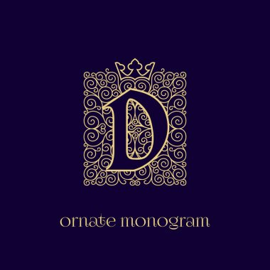 monogram with crown D