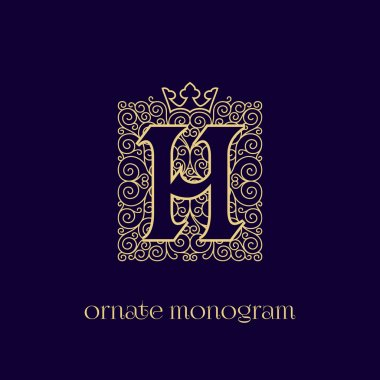 monogram with crown H