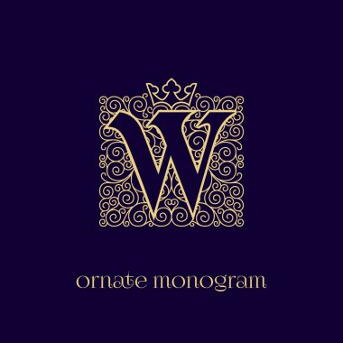 monogram with crown W