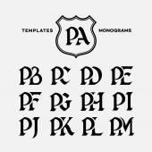 Fotografie Monograms design templates