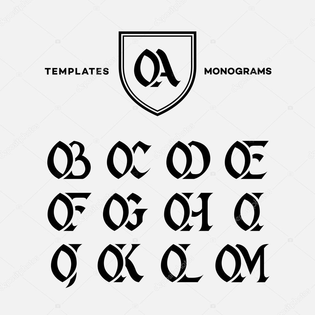 Monogramme Design Vorlagen Stockvektor Jazzzzzvector 77663388