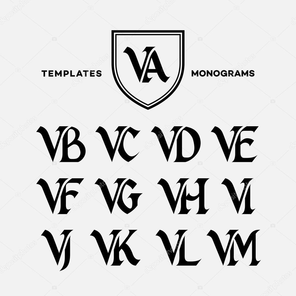 Monogramme Design-Vorlagen — Stockvektor © jazzzzzvector #77663616