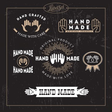 Hand made label set