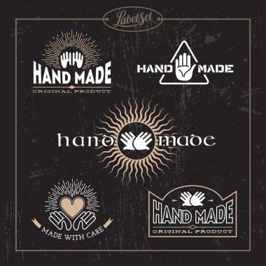 Hand made label set