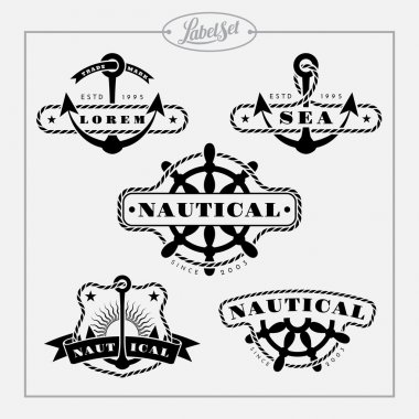 Nautical label set