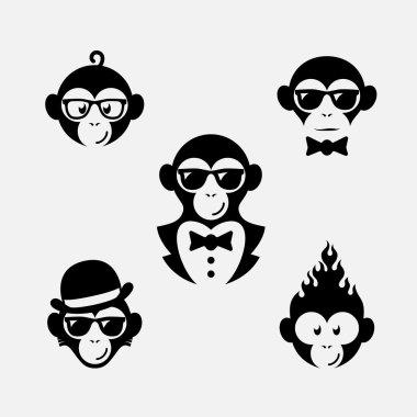 Monkey logos set