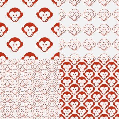 Monkey seamless patterns