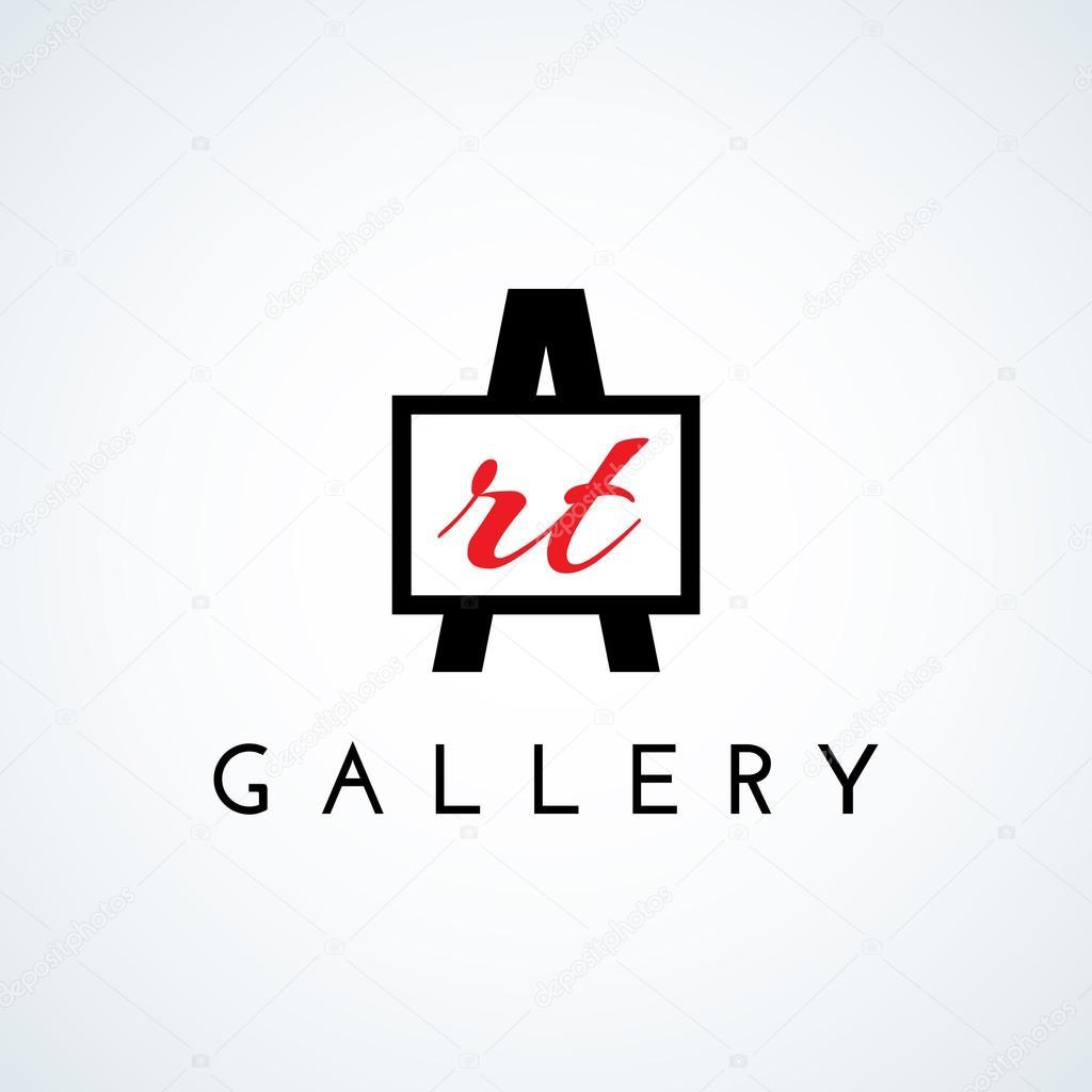 logotipo de la galería de arte — Archivo Imágenes Vectoriales ...