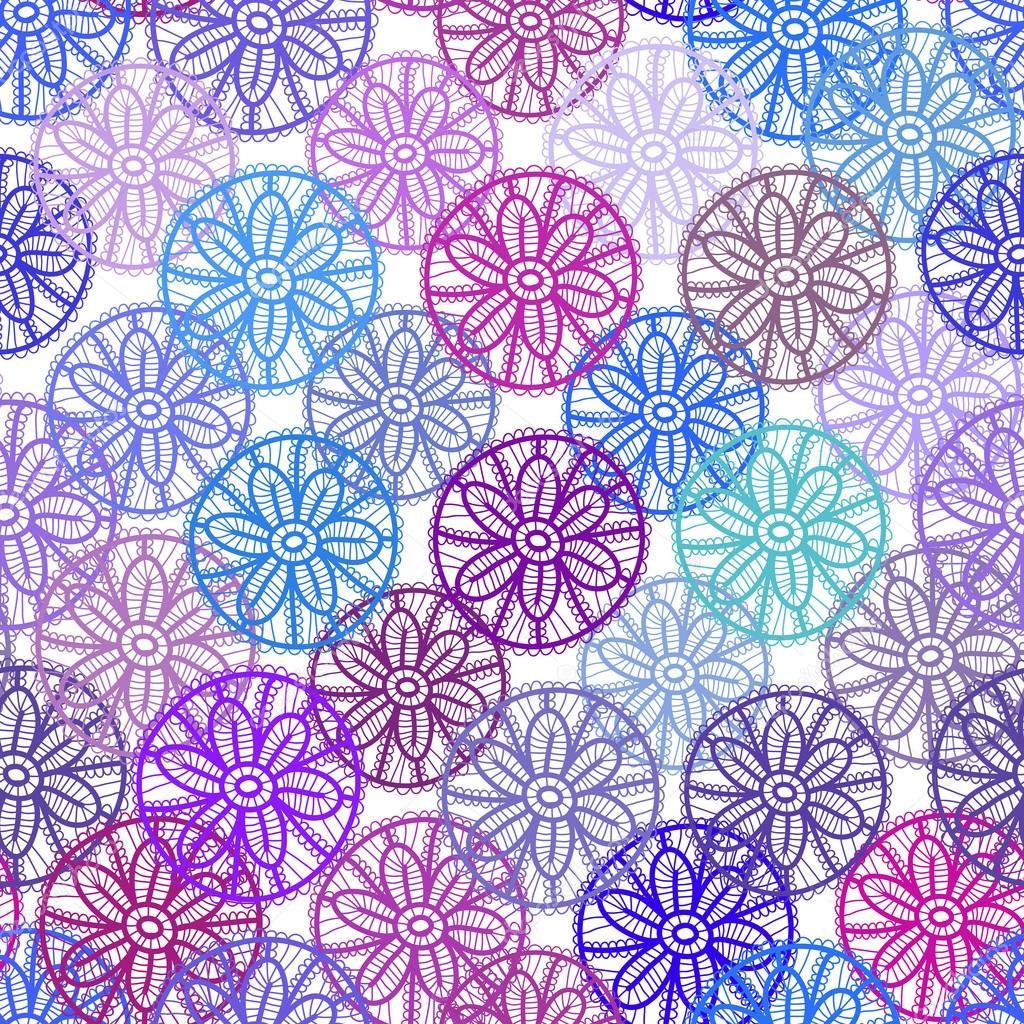nahtlose muster mit lila rosa lila blaue blumen auf wei em hintergrund pastell farben. Black Bedroom Furniture Sets. Home Design Ideas