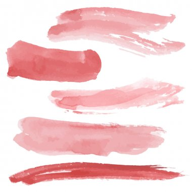 Red brush strokes set