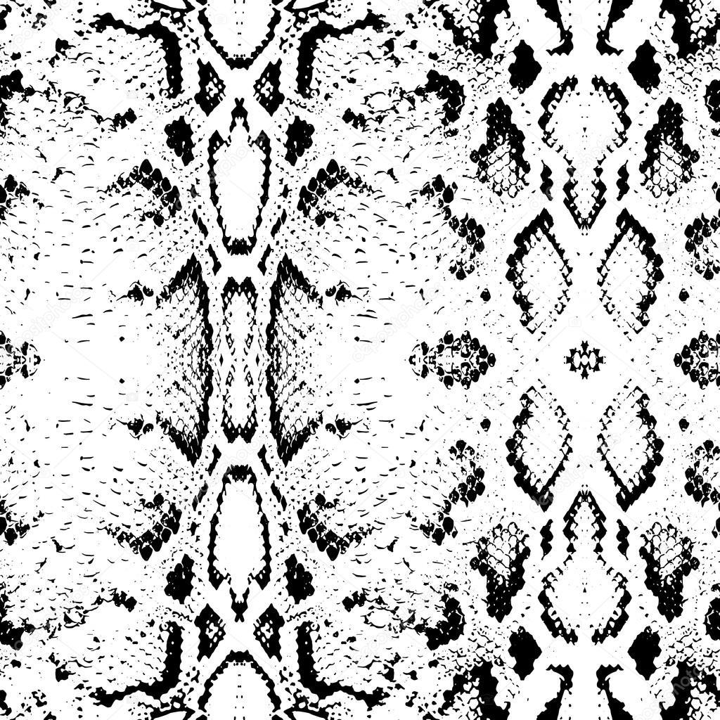 textura de la piel de serpiente. patrón sin costuras negro sobre ...