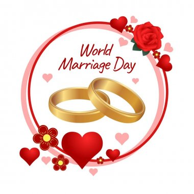 World Marriage Day Vector Illustration. Suitable for greeting card poster and banner icon