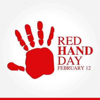 Red Hand Day Vector Illustration. Suitable for greeting card poster and banner icon
