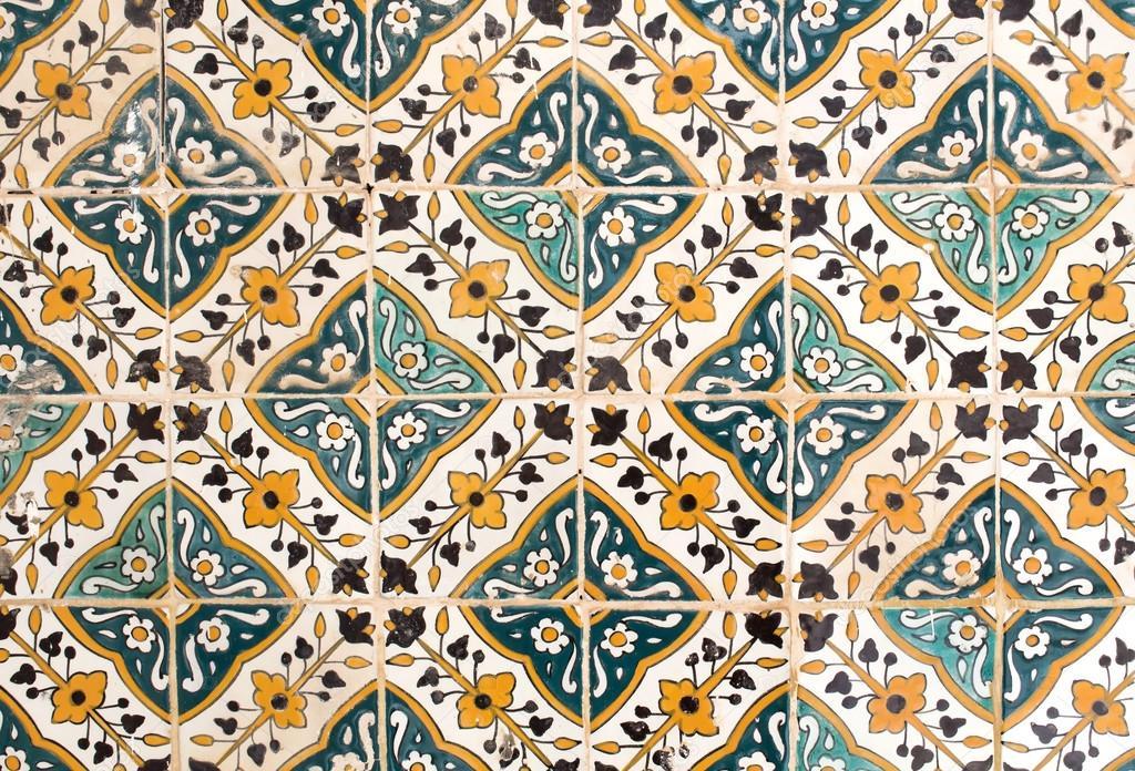 Piastrelle tradizionali floreali in tunisia foto stock - Piastrelle in stock ...