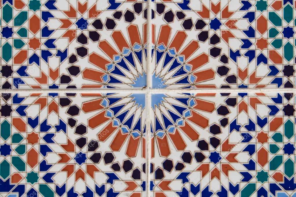 Piastrelle con decorazione ornamentale marocchina u foto stock