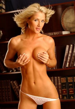 Sexy Blond April - Sexy Pose - Stunning Look - Lawyers Office