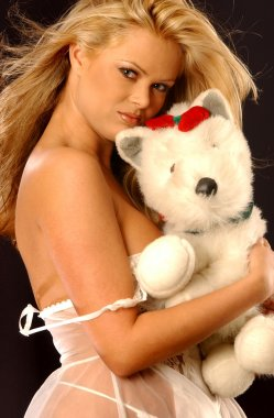 Teddy Bear Hugs - Satin Lingerie