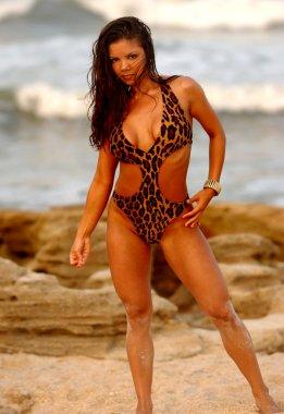 Leopard One Piece - Cute Latino Brunette