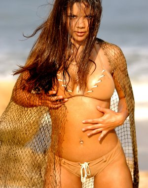 Fishnet - Brown Tan Bikini - Cute Latino Brunette