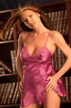 Satin Pink Slip - Slim Brunette