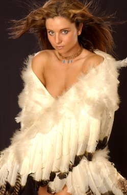 Portrait of gorgeous blonde angel
