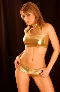 Gold Shiny - Disco Outfit