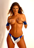 Playboy Model Ms. St. Augustine -R-Rated Implied Topless - Cowgirl Brunette Bombshell