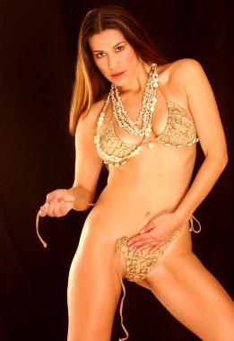 Female model posing
