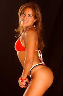 Red White Blue tellow Bikini - Thong