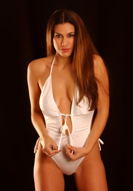 Un-tied Strings - White One Piece Swimsuit