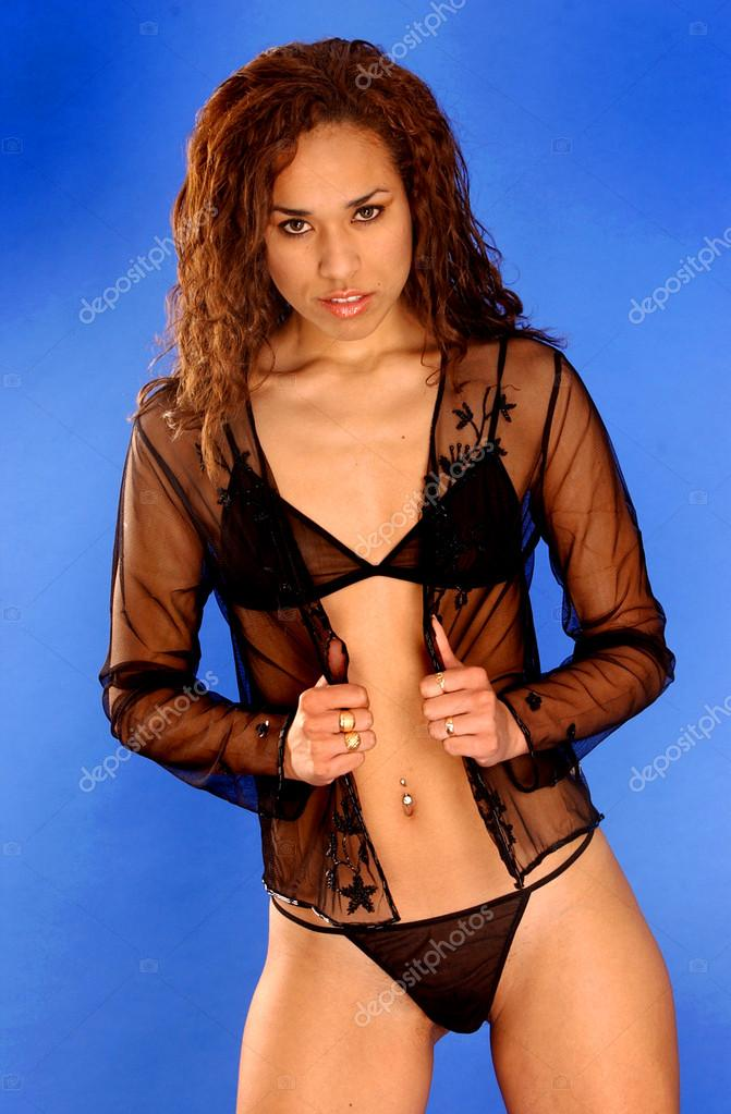 This phrase Brunette sheer lingerie wife are